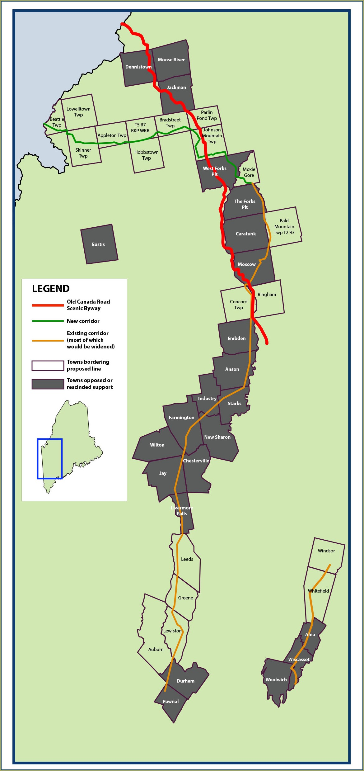 Proposed Cmp Corridor Map