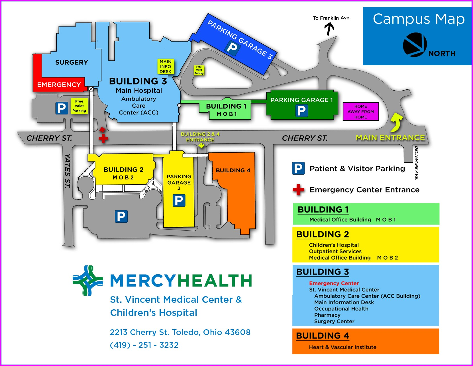 Providence St Vincent Hospital Map