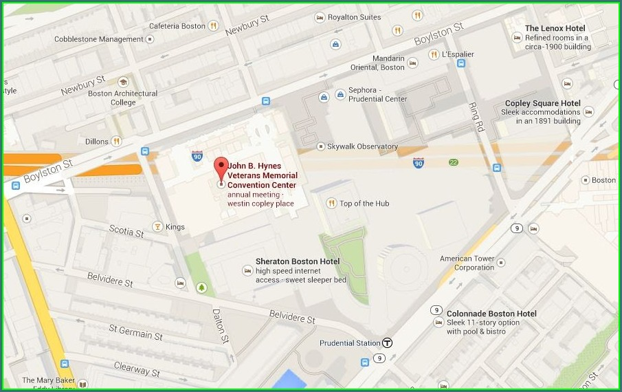 Prudential Center Parking Map