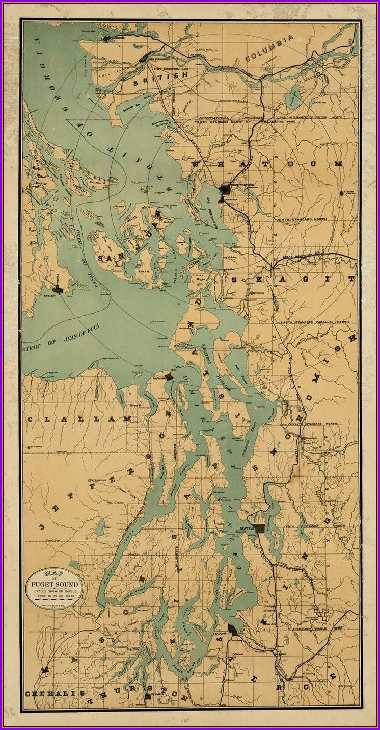 Puget Sound Depth Map