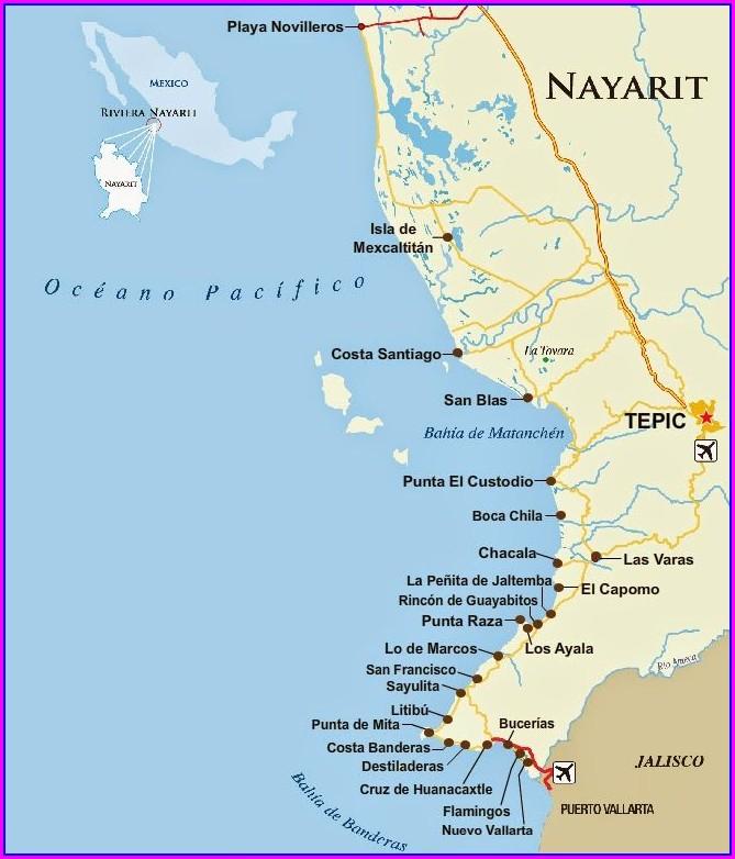Punta Mita Mexico Mapa