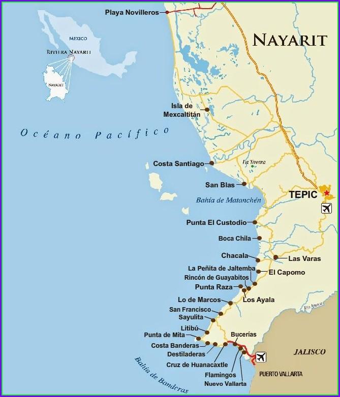 Punta Mita Nayarit Mapa
