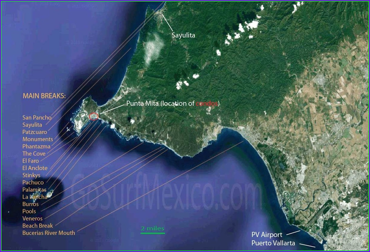 Punta Mita Surf Map