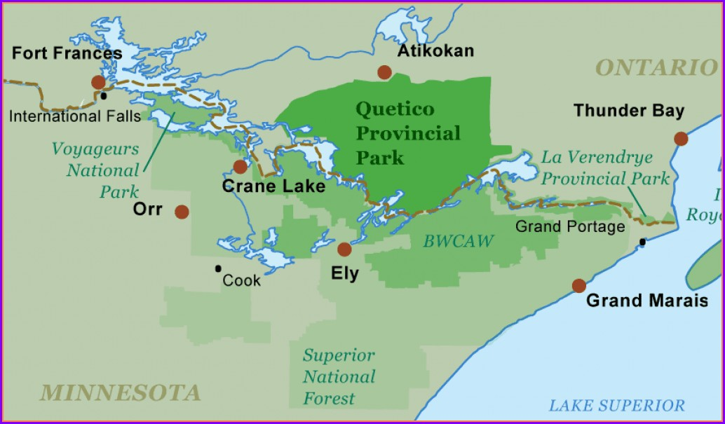 Quetico Provincial Park Map Pdf