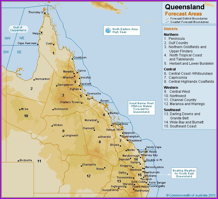 Rain Forecast Map Qld