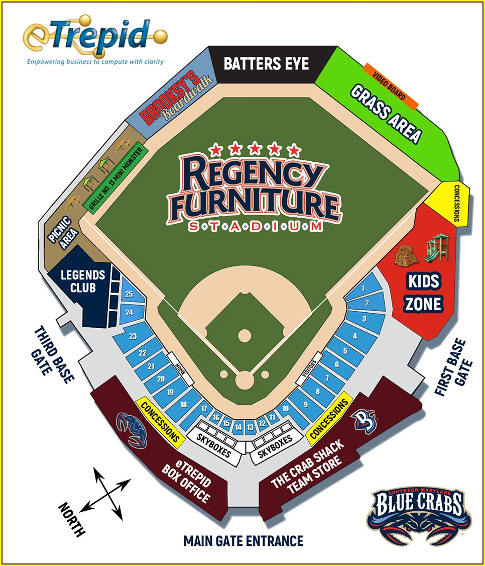 Raley Field Seating Map