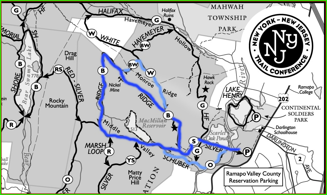 Ramapo Reservation Trail Map