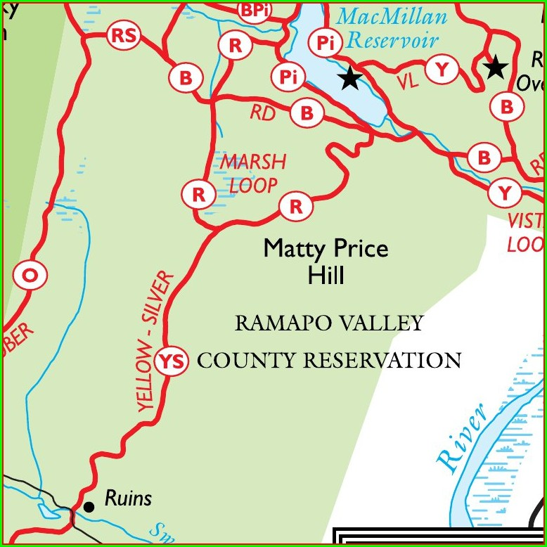 Ramapo Valley County Reservation Trail Map