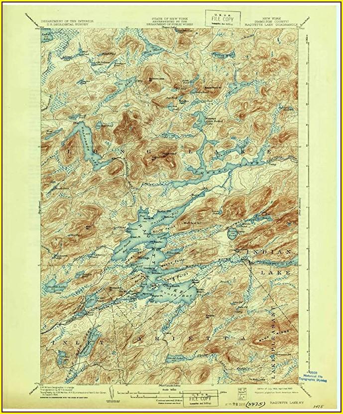 Raquette Lake Ny Map