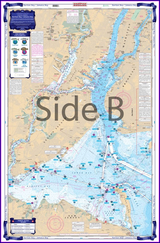 Raritan Bay Fishing Map