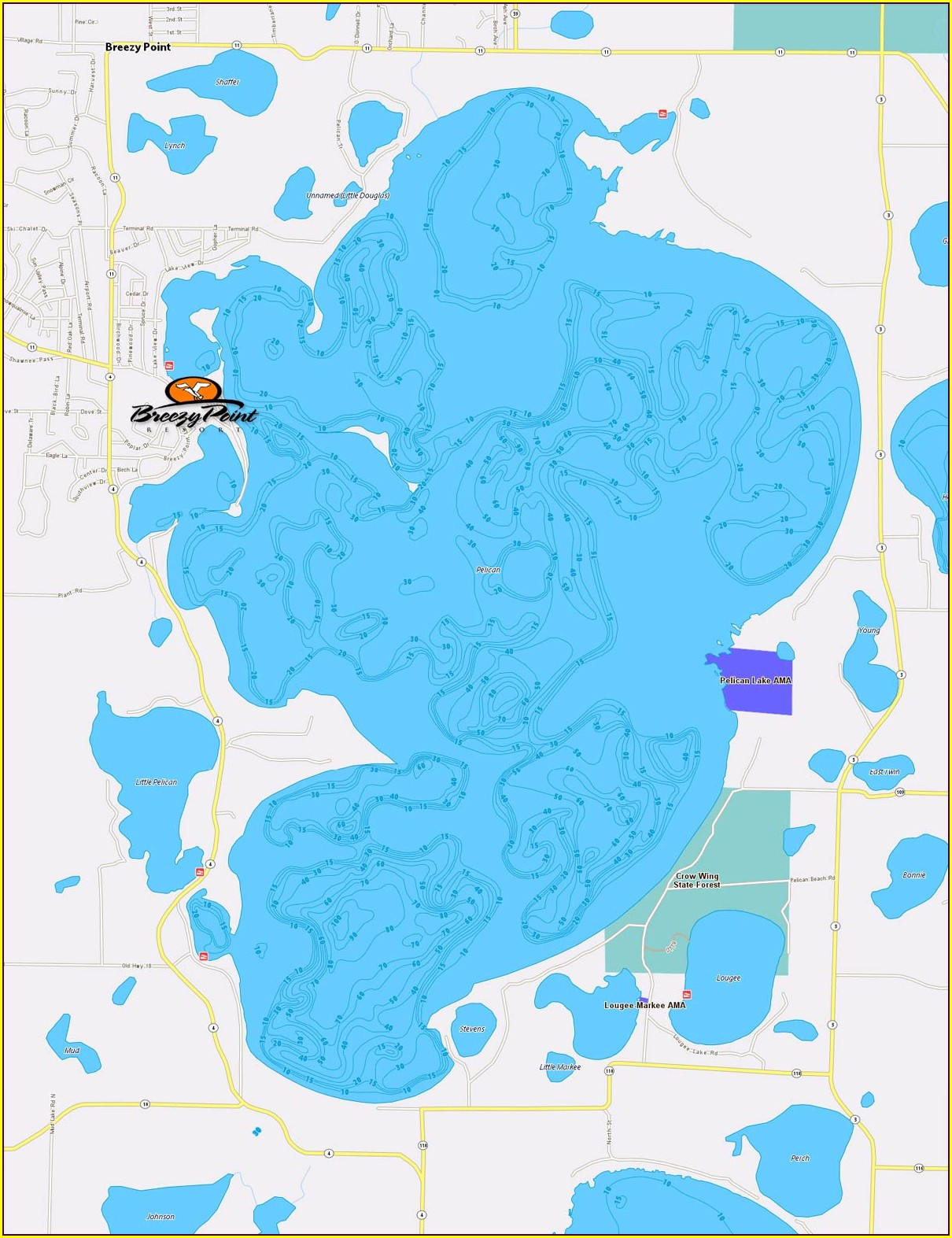 Red Lake Mn Depth Map