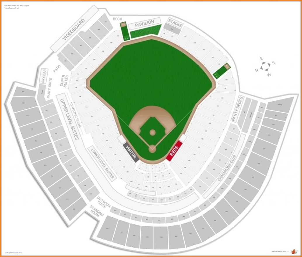 Reds Stadium Seating Map