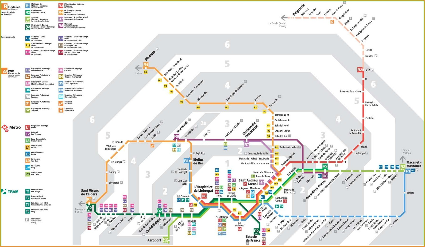Renfe Train Map Catalonia