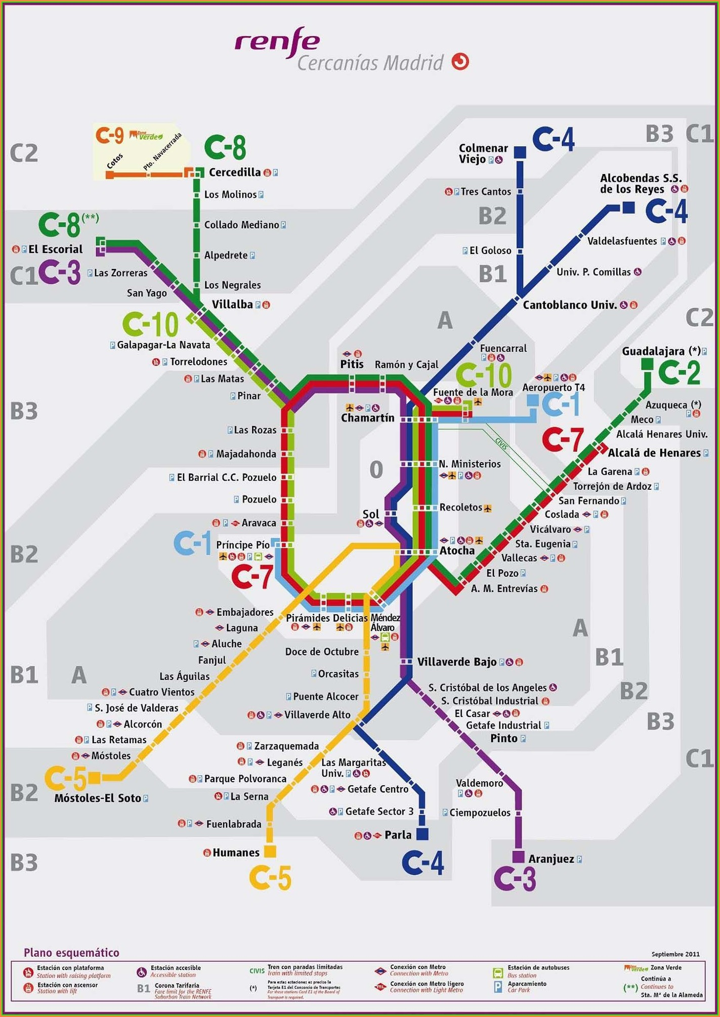 Renfe Train Map Madrid
