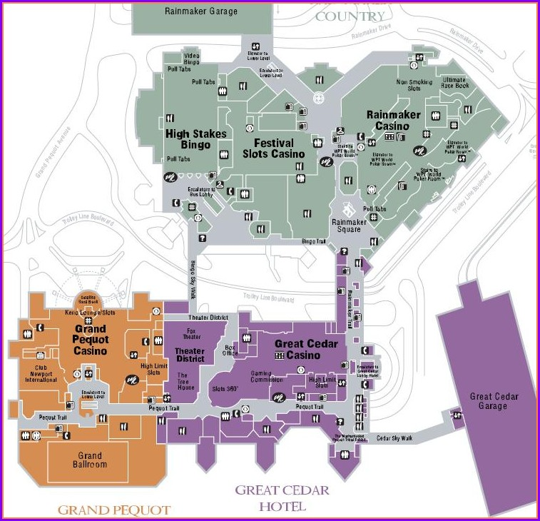 Restaurant Mohegan Sun Map