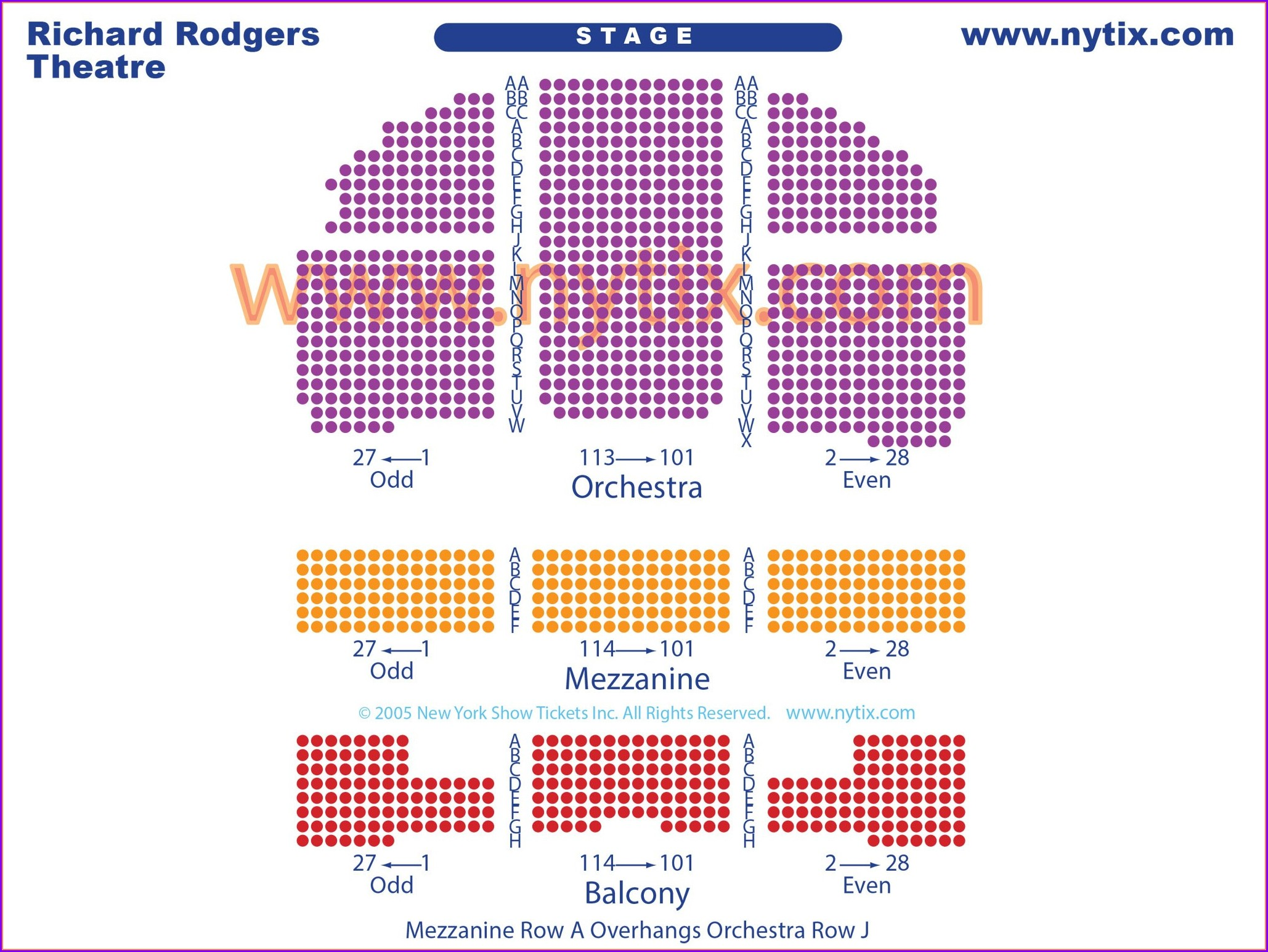 Richard Rodgers Theater Seat Map