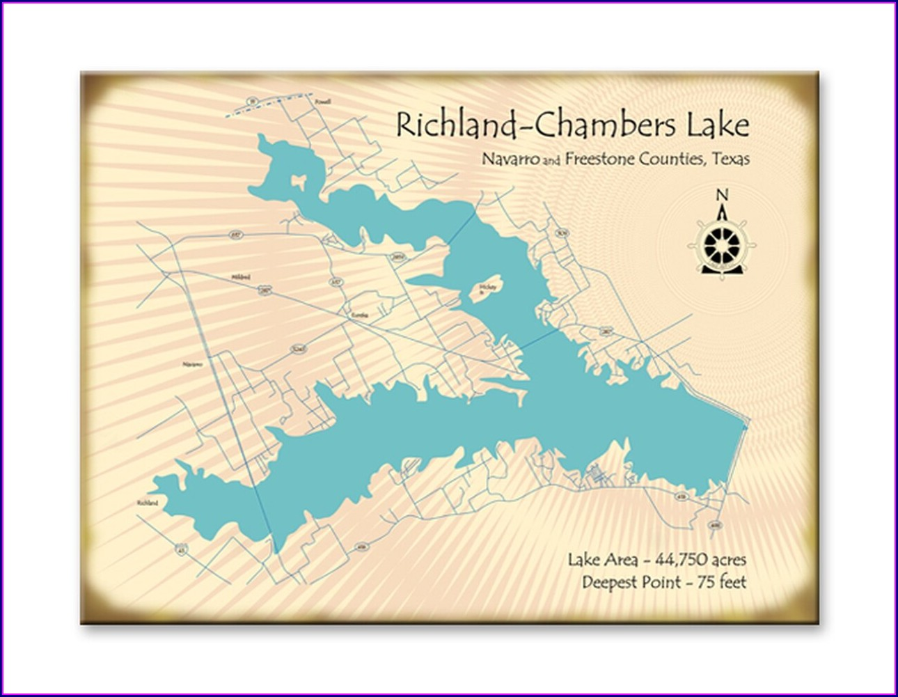 Richland Chambers Lake Map
