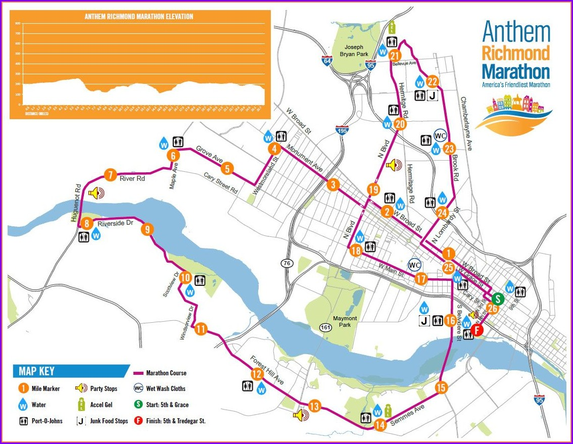 Richmond Marathon Course Map