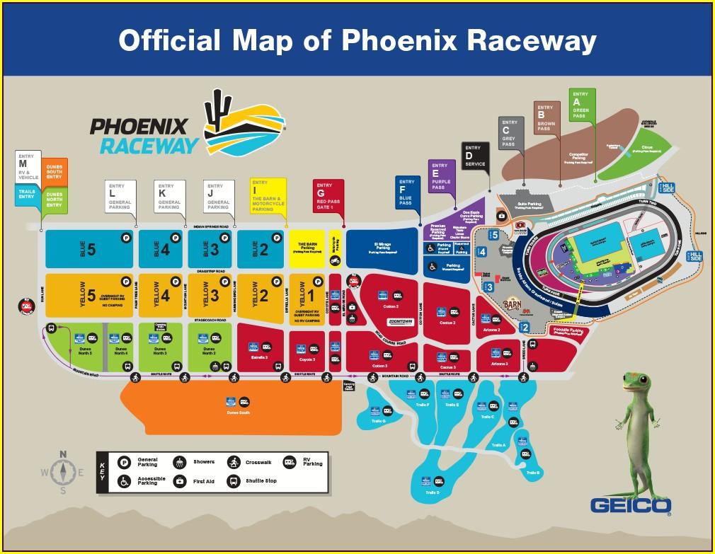 Richmond Raceway Camping Map