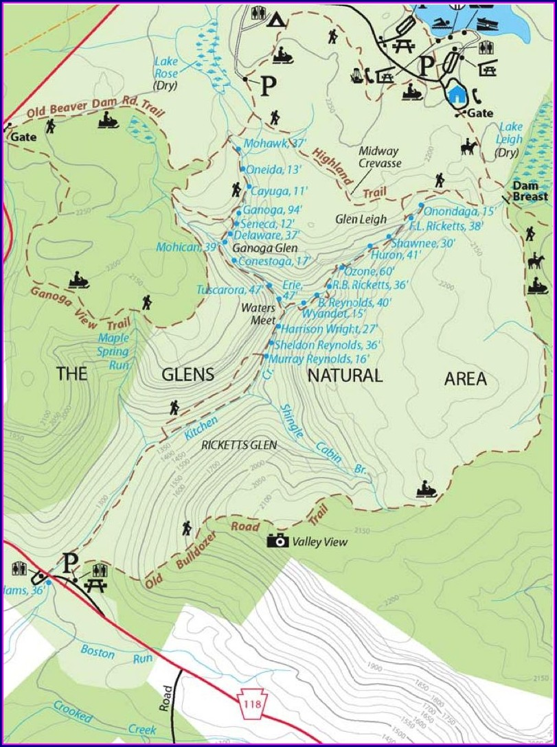 Ricketts Glen Falls Trail Map