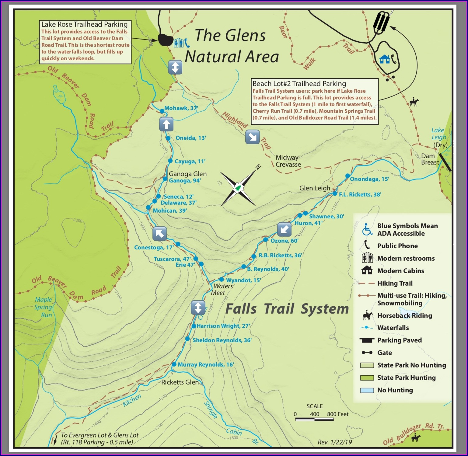 Ricketts Glen State Park Trail Map
