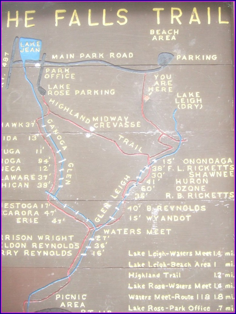 Ricketts Glen Trail Map