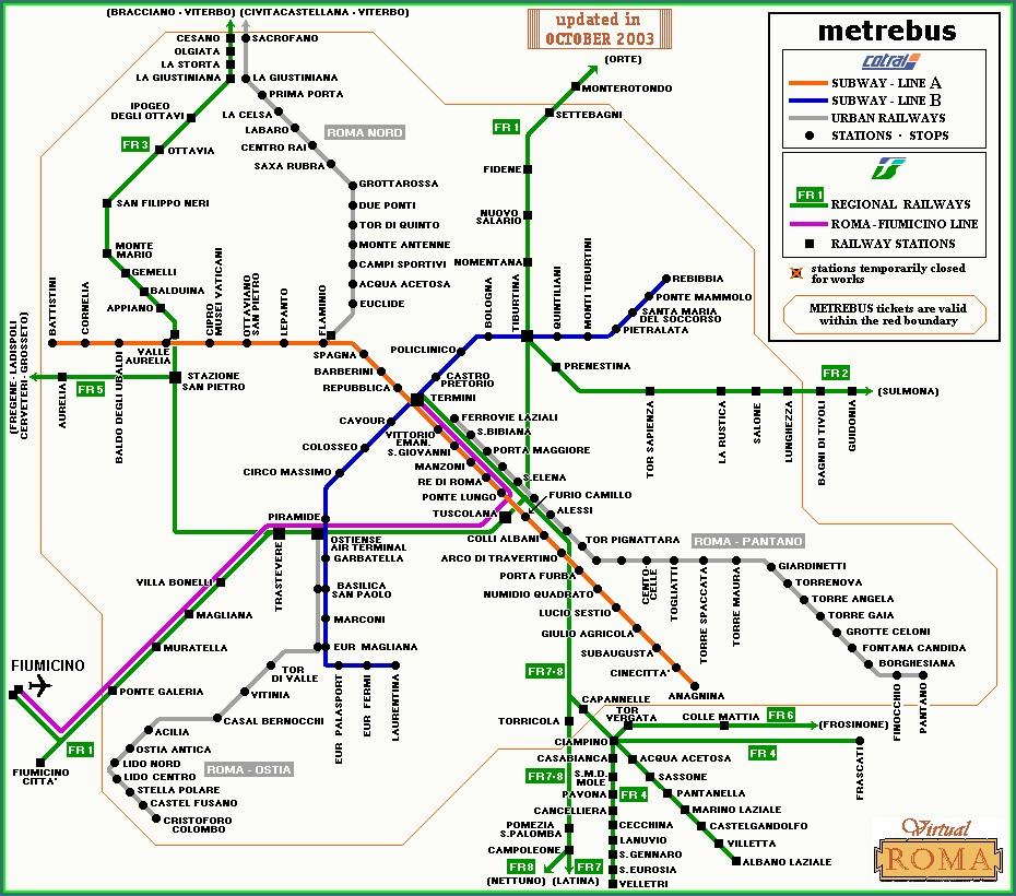 Rome Termini Station Map
