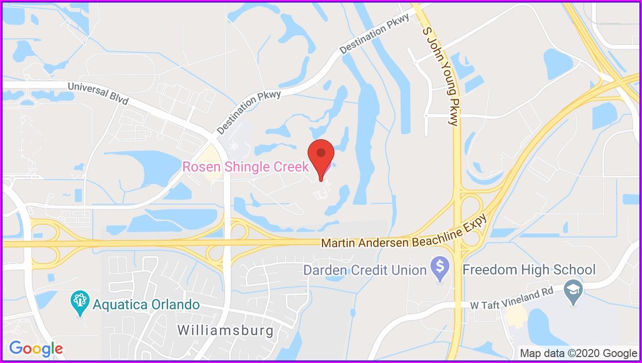Rosen Shingle Creek Map