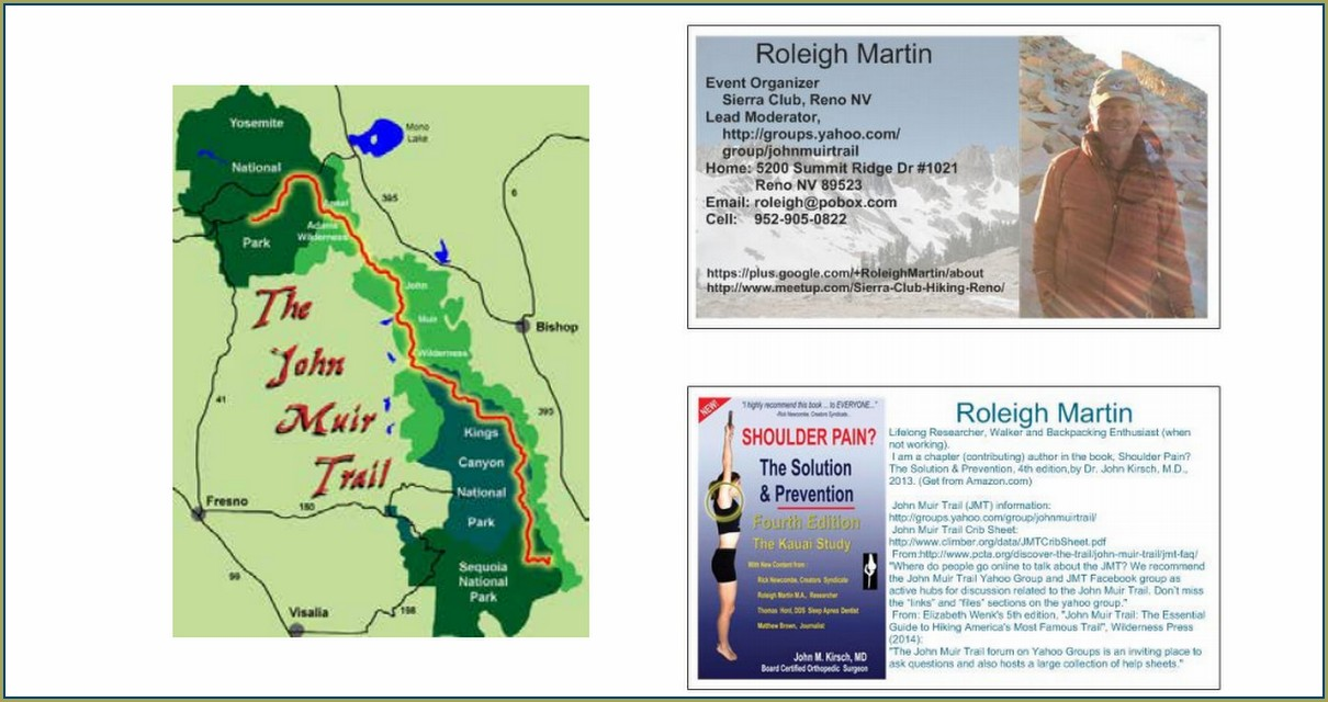 Route John Muir Trail Map Pdf