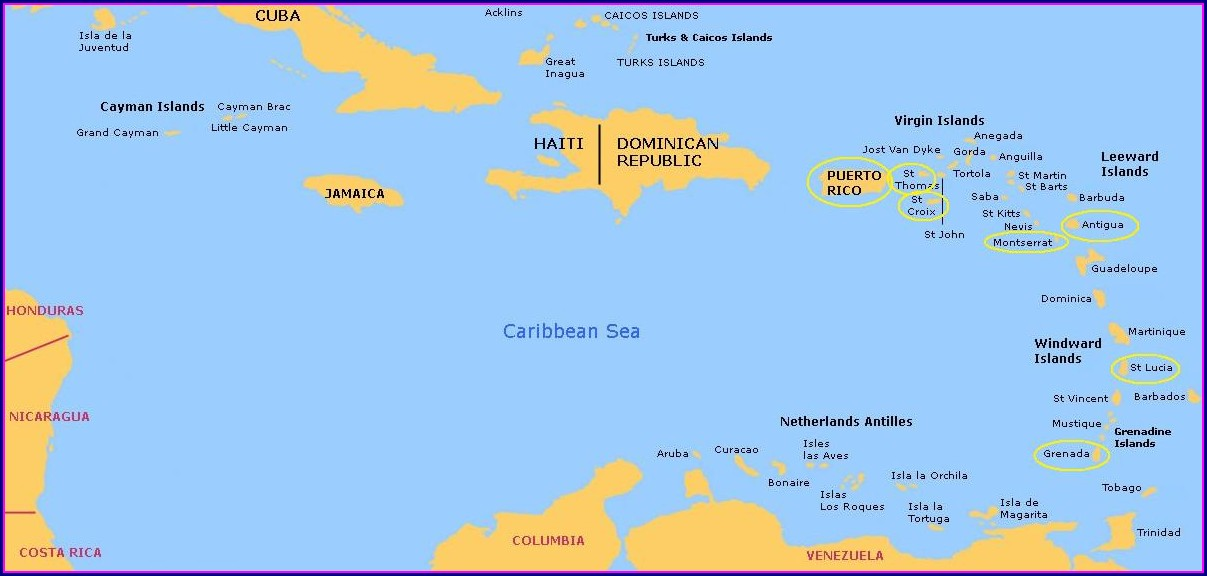 Royal Caribbean Eastern Caribbean Cruise Map