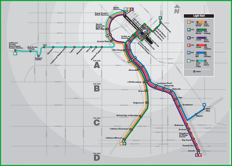 Rtd Park And Ride Map