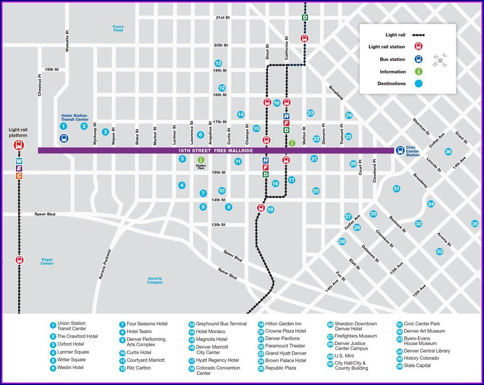 Rtd Route Map Denver