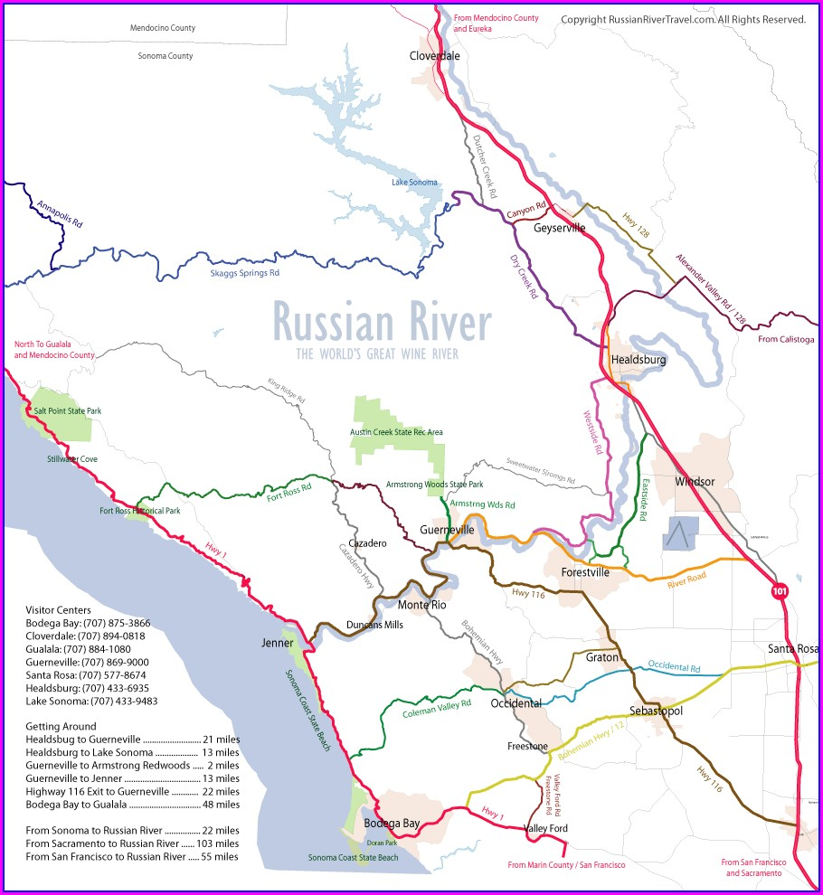 Russian River Valley Wineries Map