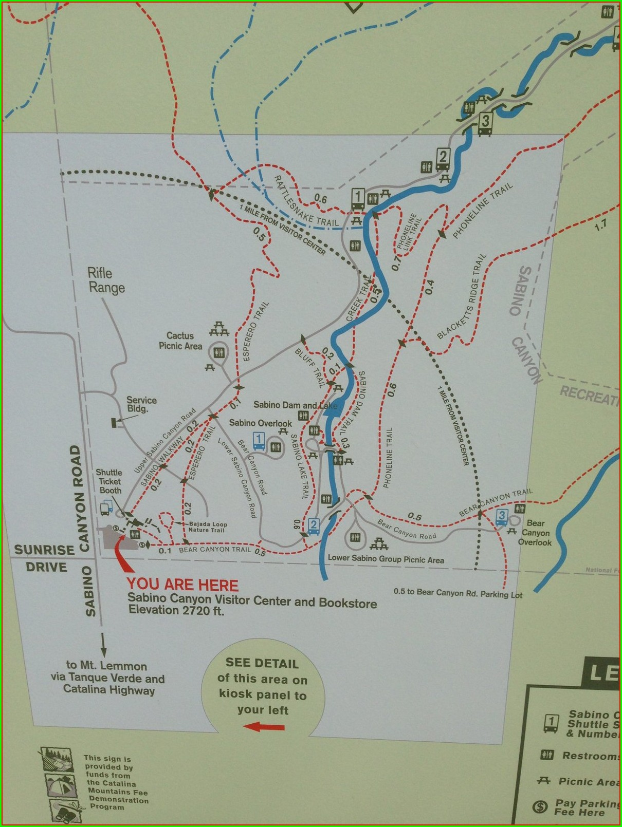 Sabino Canyon Trail Map Pdf
