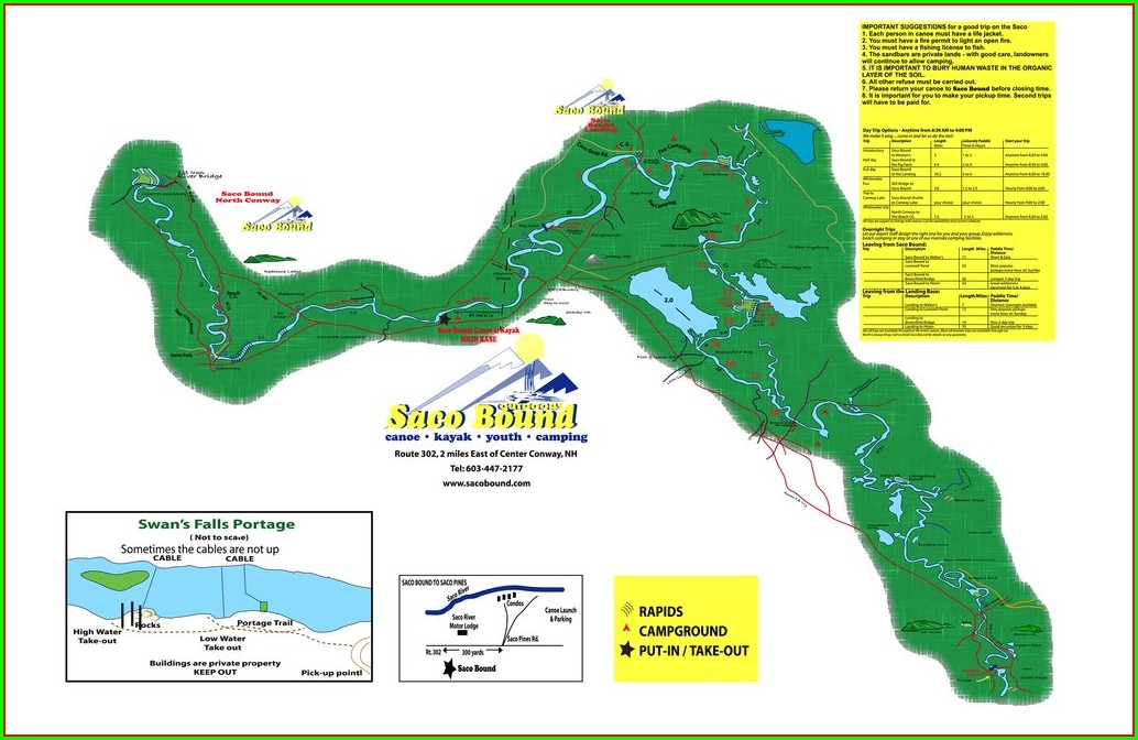 Saco River Map Maine