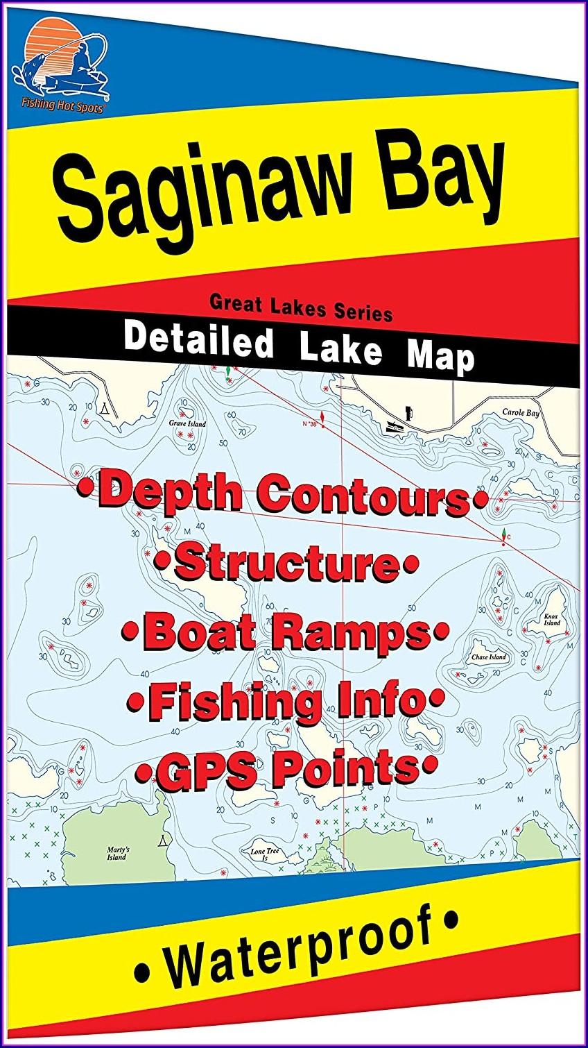 Saginaw Bay Fishing Hot Spots Map