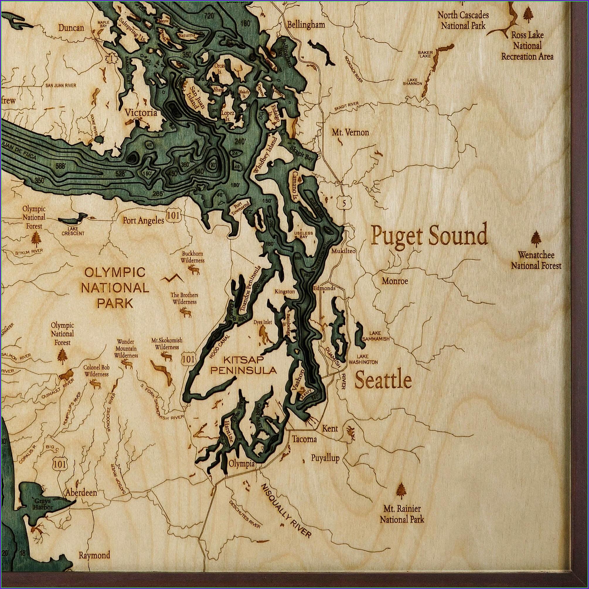 Salish Sea Map For Sale