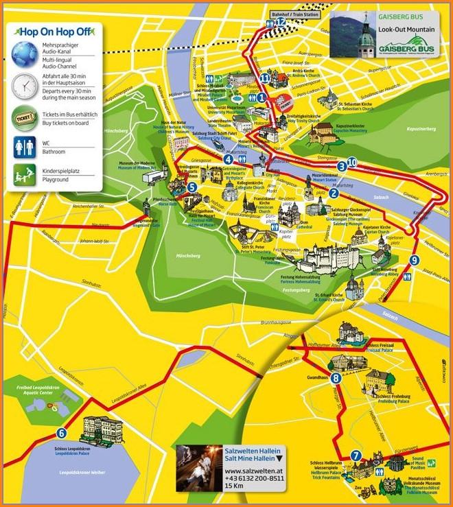 Salzburg Hop On Hop Off Bus Route Map