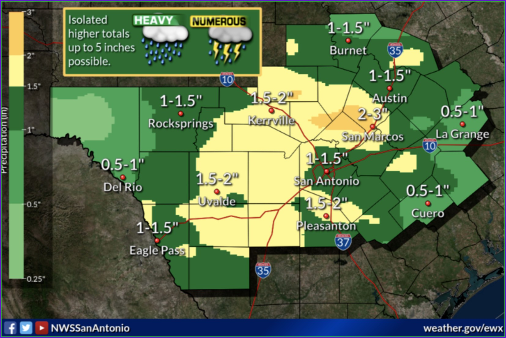 San Antonio Weather Map