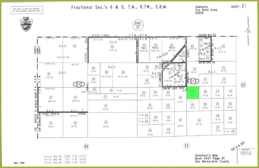 San Bernardino County Assessor Map