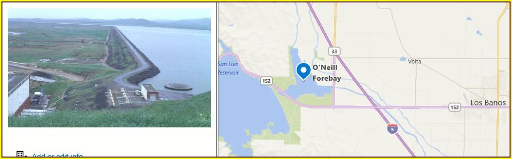 San Luis Reservoir Fishing Map