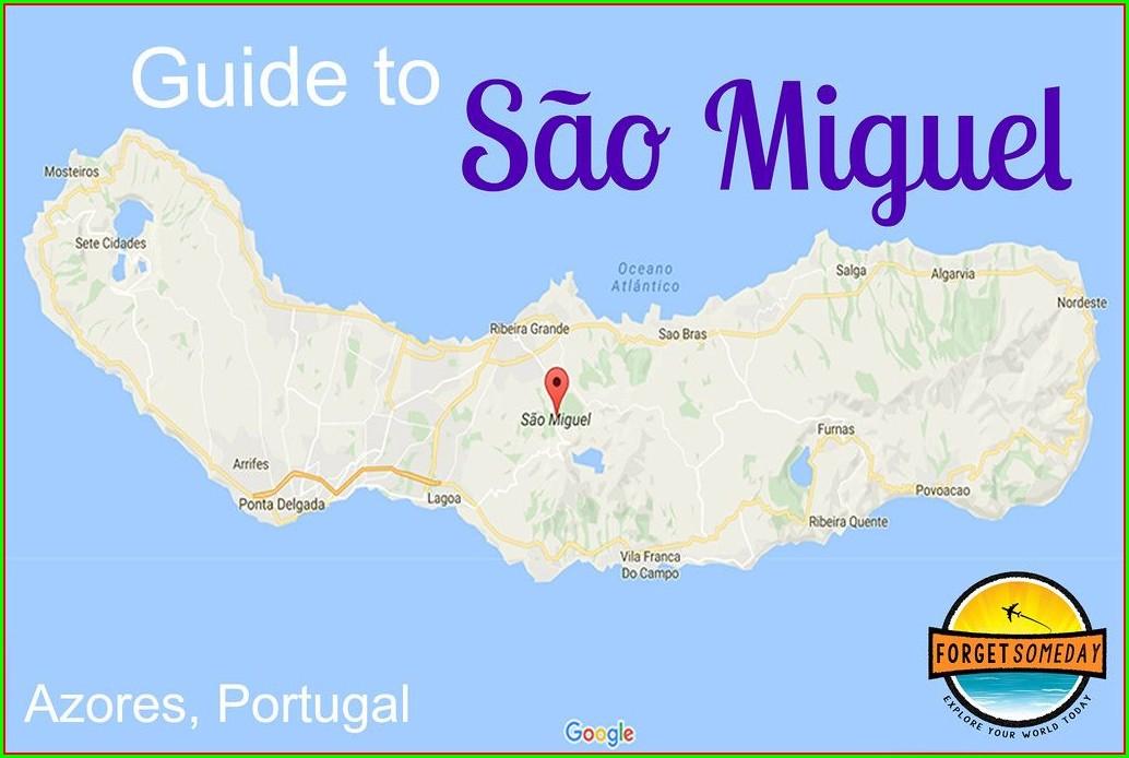 San Miguel Sao Miguel Azores Map