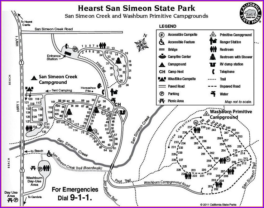 San Simeon State Park Campground Map