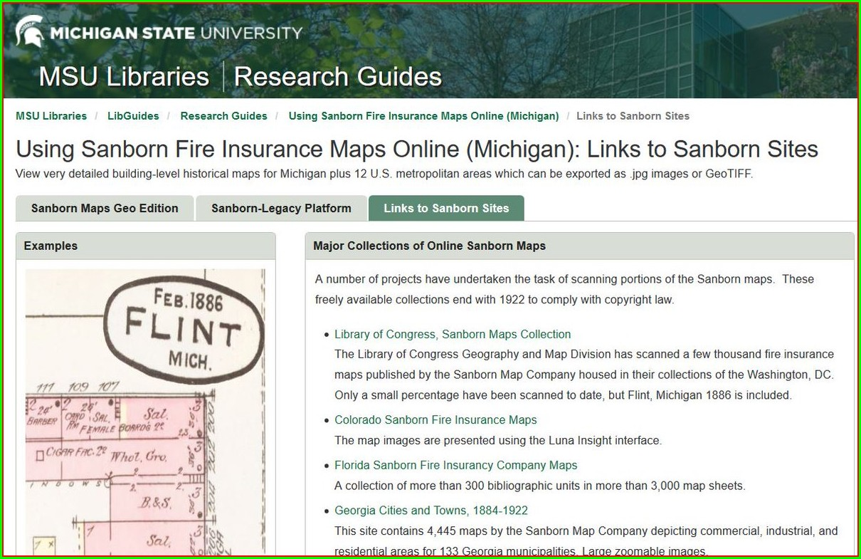 Sanborn Insurance Maps Online