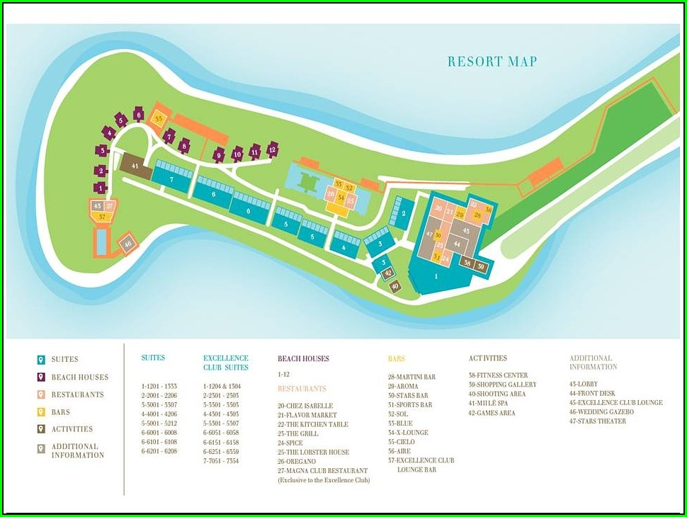 Sanctuary Cap Cana Map Resort