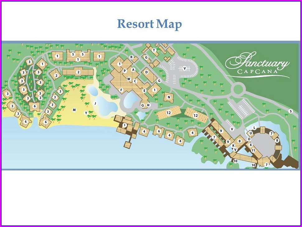 Sanctuary Cap Cana Resort Map