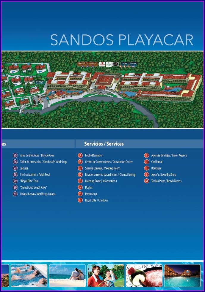 Sandos Playacar Resort Map
