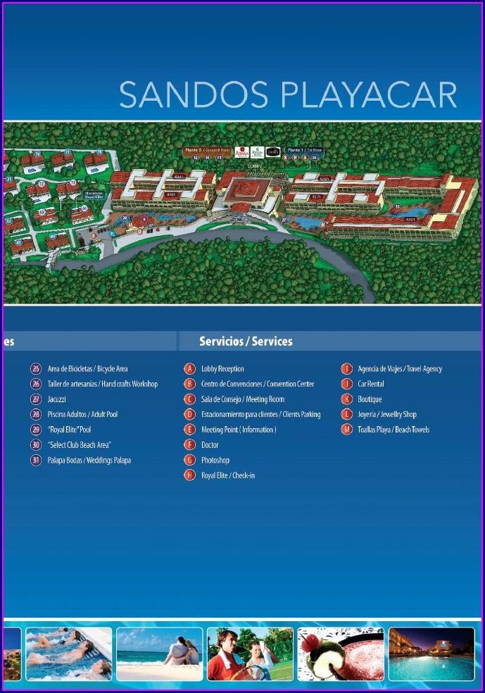Sandos Playacar Resort Map