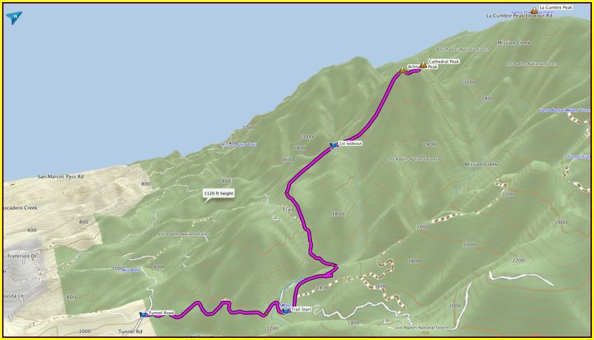 Santa Barbara Hikes Map