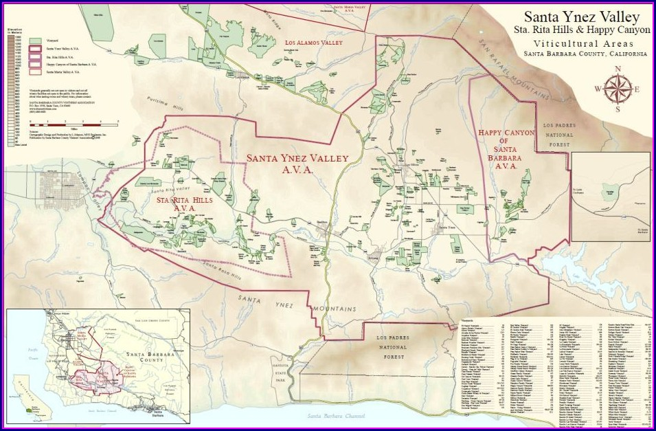 Santa Ynez Valley Ava Map